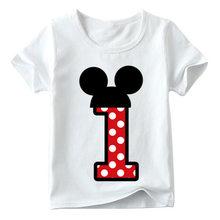 เด็กทารก/เด็กหญิงวันเกิดแฮปปี้โบว์น่ารักพิมพ์เสื้อผ้าเด็กตลก T เสื้อ, เด็กหมายเลข 1-9 วันเกิด(China)