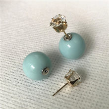 Nuevos pendientes de broche para boda con piercing de caramelo y Perla simulada de 11 colores 2 tamaños de brincos perle(China)