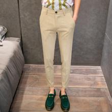 Мужские классические брюки в английском стиле, облегающие повседневные деловые брюки для свадьбы, брюки-панталоны черного цвета хаки, 2020(China)