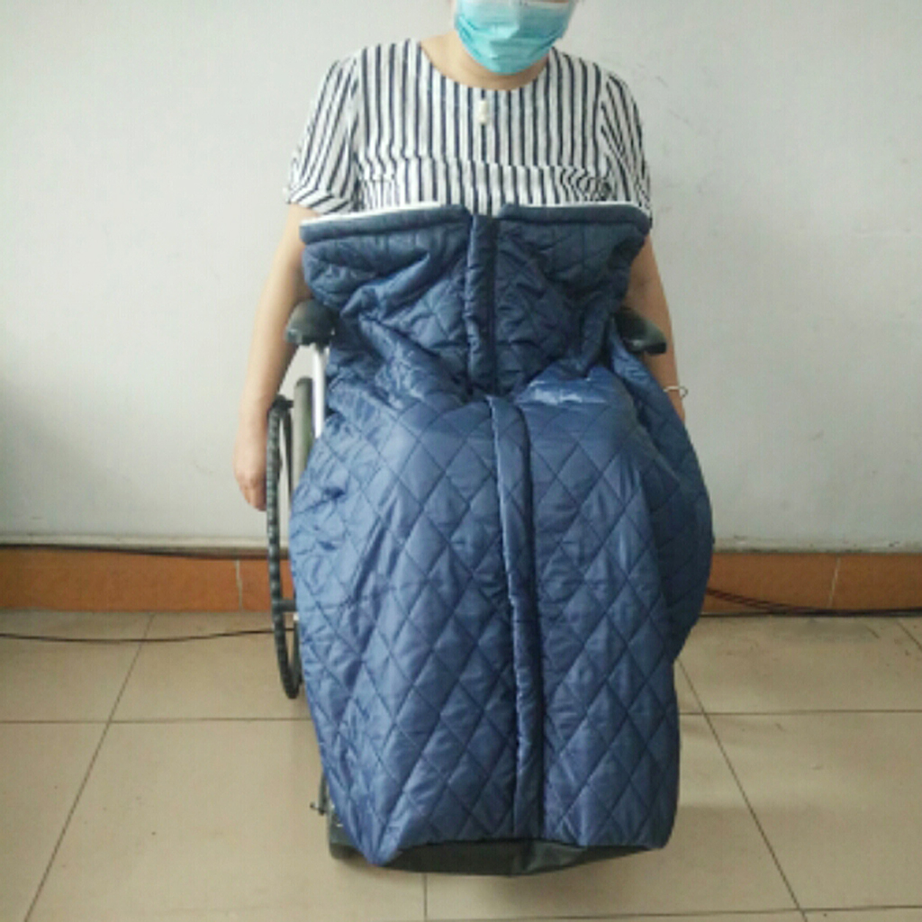 Zipper Wheelchair Cosies Warmer Cover Blanket Sleeping Bag for Old Man Patients Lower Body Legs Feet Windproof Protection
