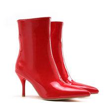 Asumer PLUS ขนาด 34-47 รองเท้าแฟชั่นสำหรับผู้หญิง pointed Toe Lace Up รองเท้าฤดูใบไม้ร่วงฤดูหนาวสุภาพสตรี PROM รองเท...(China)