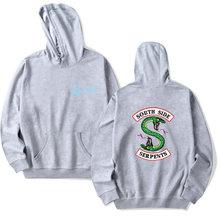 Riverdale Hoodie Sweatshirts Plus Size South Side Serpents Streetwear Tops Spring Hoodies Men Women Hooded Pullover Tracksuit(China)