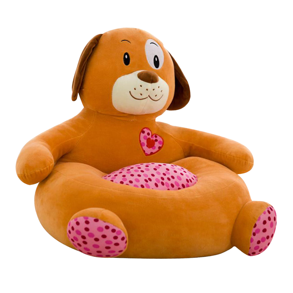 Animal Shape Plush Bean Bag Chair Couch Cover for Kids Couch Furniture Sofa Seat Cover Armchair Baby Bean Bag Cover Bear