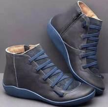 YIBING1517 Neue 2019 Herbst Winter Retro Punk Frauen Stiefel Fashion Echtes Leder Stiefeletten Zapatos De Mujer Wram Botas Mujer(China)