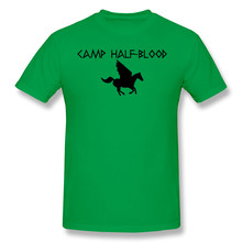 T-shirts perdidas para homem acampamento meia-sangue engraçado crewneck algodão t camisa(China)