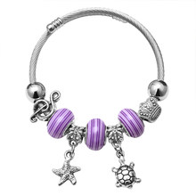 Luxury Brand Women Bracelet Silver Color Crystal Charm Bracelet for Women DIY 925 Beads Bracelets & Bangles Jewelry Gift(China)