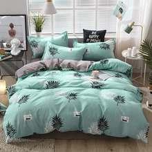 Pink cartoon bedding set girl home bed set flat bed Sheet Pillowcase Duvet Cover 3/4pcs Soft bedding queen king full size(China)