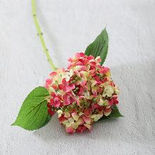 Искусственные шелковые гортензии высокого качества, цветы для рукоделия, вечерние, свадебные, рождественские украшения для дома, искусстве...(Китай)