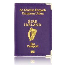 Ierland Reizen Paspoort Cover Protector Case voor Ierland Lederen Paspoorthouder Business & Credit Kaarthouder Case(China)