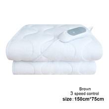 Koc elektryczny z termostatem koc podgrzewany materac 220v ciepłe ogrzewanie Mat rzuć ponad pod łóżko materac cieplej dywany mata(China)