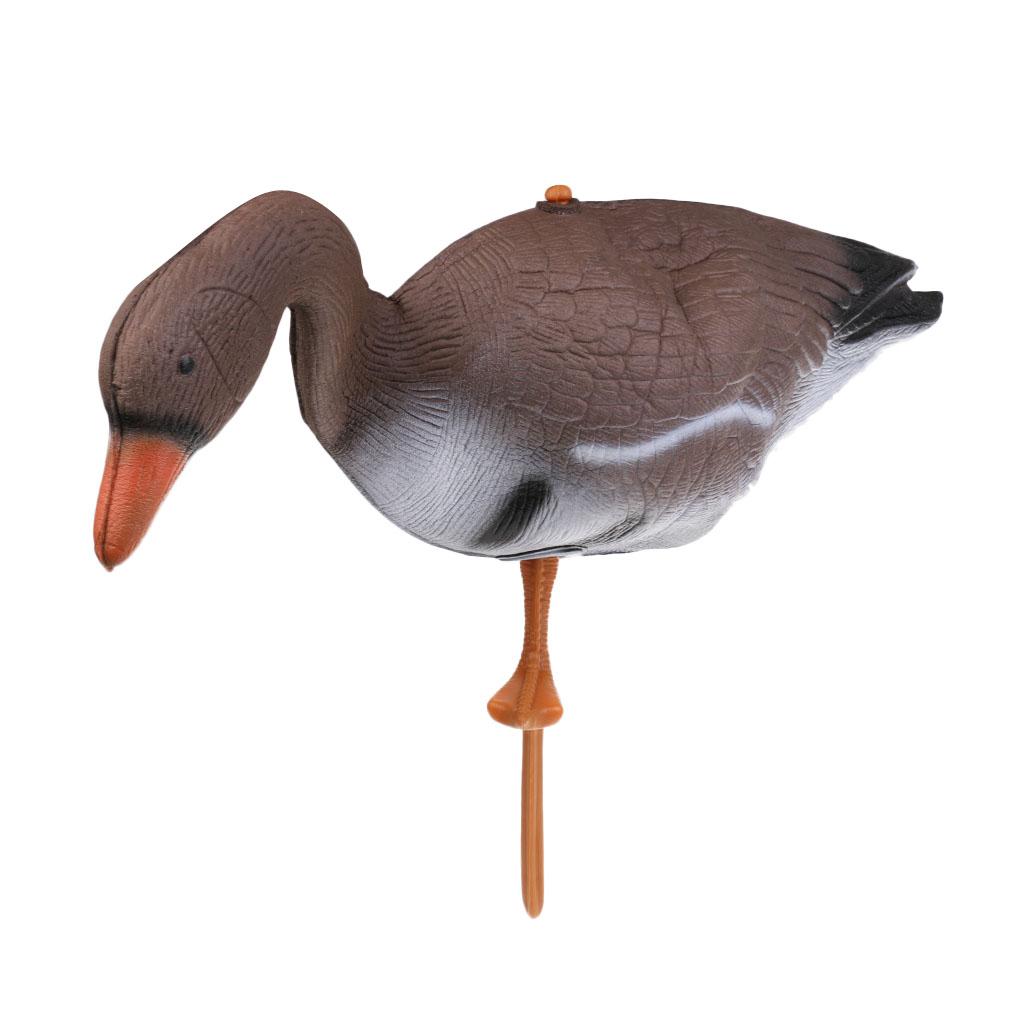 4pcs 3D XPE Goose Hunting Decoy Goose Decoy Target Garden Lawn Decor Scarer Outdoor Bird Flyer Lawn Pond Ornaments Simulation