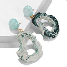 2019 NEW mixed colors Bijoux Chic stone Crystal drop earrings for women geometric statement jewelry gifts accessories Brinco(China)