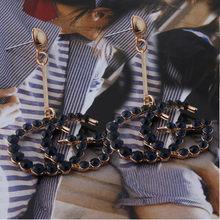 แฟลชต่างหูรูปไข่ขนาดใหญ่ต่างหูแหวนสำหรับแบรนด์ผู้หญิงต่างหูแหวนขนาดใหญ่ Brincos Oorbellen(China)
