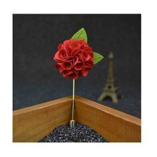 Buatan Tangan Pria Lapel Bunga Pin untuk Pernikahan Perjamuan Pesta Koktail Sesuai dengan Dekorasi Korsase Boutonniere Stick Bros Pin Merah(China)