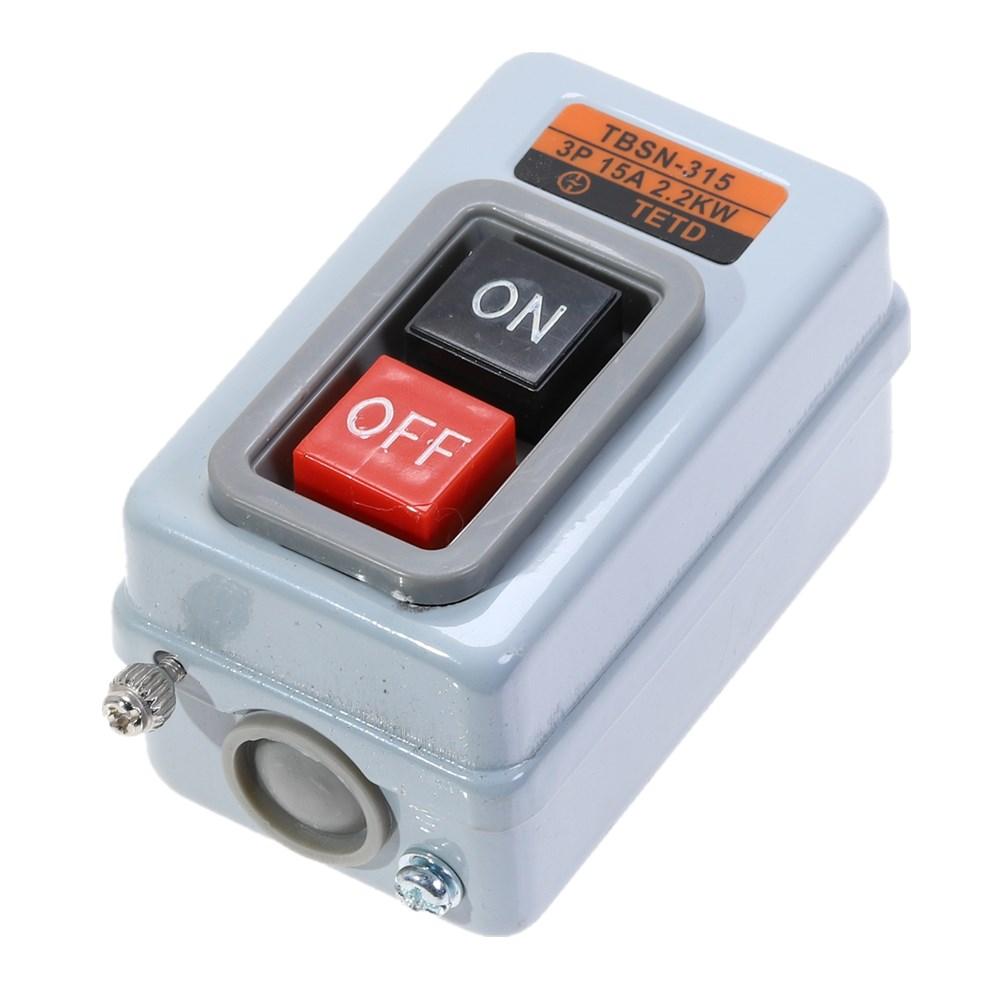 2 posición de tres fases de encendido y apagado bloqueo interruptor de botón AC500V 15AMP