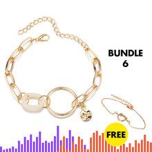 Jeśli mnie Charms wielowarstwowe perła moneta bransoletka serduszkiem na łańcuszku bransoletki dla kobiet moda złoto srebro gwiazda rysunek bransoletki biżuteria nowy(China)