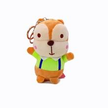 Kawaii Chipmunk Esquilo De Pelúcia Boneca Chaveiro Pingente de Pelúcia Brinquedo Macio Animal Dos Desenhos Animados Mochila Sacos Pingente Boneca Crianças Presentes(China)