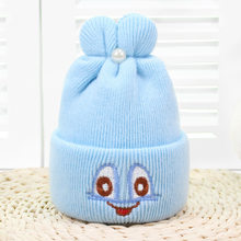 Baby Cute Hats Winter New Funny Big Eyes Rabbit Ears Cap Toddler Girls Boy Warm Soft Crochet Knit Beanie Hat Accessories for Kid(China)