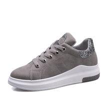 Fuijin 2019 الربيع الصيف الخريف النساء أحذية رياضية أنيقة الإناث حذاء كاجوال منصة بولي leather الجلود الكلاسيكية القطن أحذية الدانتيل(China)