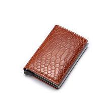 Rfid porte-carte femmes hommes portefeuilles argent sac mâle Vintage rouge orgue sac à main 2019 petit cuir mince portefeuilles mince Mini portefeuille Walet(China)
