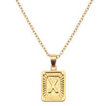 26 alfabet naszyjnik wielka litera naszyjnik kobiety A-Z litery naszyjnik moda biżuteria Bijoux Femme Bijuteria prezenty(China)