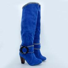 2019 büyük boy 43 yüksek topuklu rusya kış sıcak peluş kar çizmeler kadın ayakkabıları kadın botları parti kadın çizmeler kadın(China)