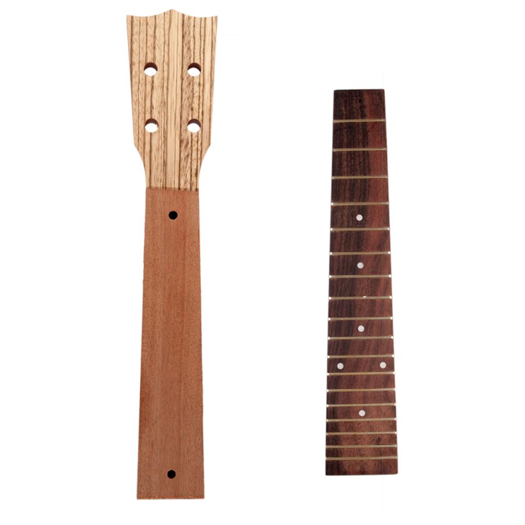 Neck and Fretboard for Ukulele Concert Ukelele 23in Hawaii Guitar DIY Parts for Beginner and Music Lover DIY Parts