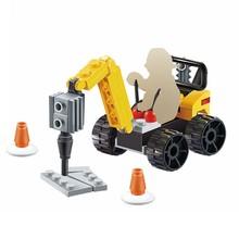 Para Legoing Duplo coches de bomberos excavadora técnica de gran tamaño niños juguetes ciudad bloques de construcción vehículos compatibles Legoings Citys(China)