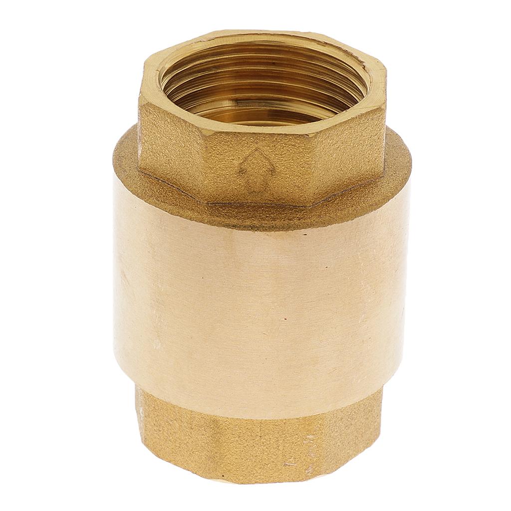 Brass Non-Return Check Valve Air Liquid One Way Check Valve 3/4 Inch