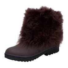 Phụ Nữ Mùa Đông Giày Da Thật Da Slip On Nữ Chelsea Mắt Cá Chân Giày Phẳng Giày Boot Ngắn Nữ Mùa Thu Giày #3(China)