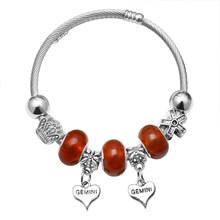 925 Perak Pesona Gelang Bangle untuk Wanita Kristal Bunga Peri Manik Fit Merek Gelang Perhiasan Pulseras Mujer(China)