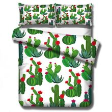 Cactus Desert Green Plant Bedding Sets Kids Children Duvet Covers Pillowcases Comforter Cover Bedclothes Christmas Gift(China)