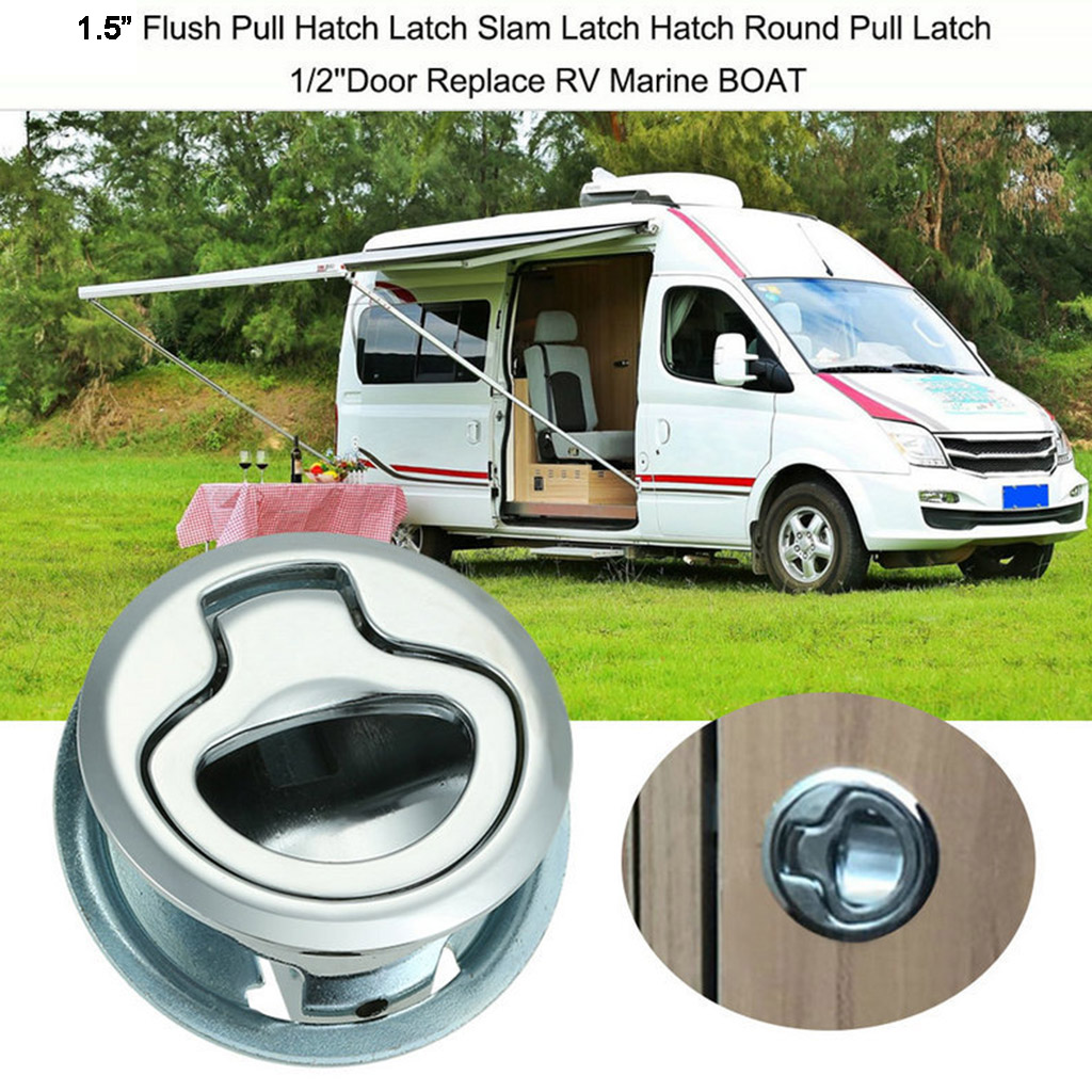Marine Boat Stainless Steel 2i nch Flush Pull Hatch Slam Latch Lift Handle for RV Boats Doors Hardware