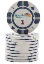 10 Buah/Banyak Keramik Chip Poker 10G Set Tanah Liat Koin Kasino 39 Mm Koin Chip Poker Hiburan Dolar Koin(China)
