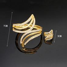 נשים צמידי טבעת זהב ציפוי צמיד חדש עיצוב חתונה נחמד צמיד צמידי צמידים לנשים אהבת צמיד(China)