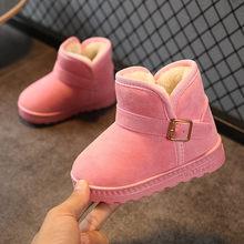 2019 חורף נעלי ילדים אתחול עבור בנות שלג מגפי נעלי גומי תינוק בנות חיצוני שלג כותנה ילדים של נעלי קטיפה קרסול מגפיים(China)