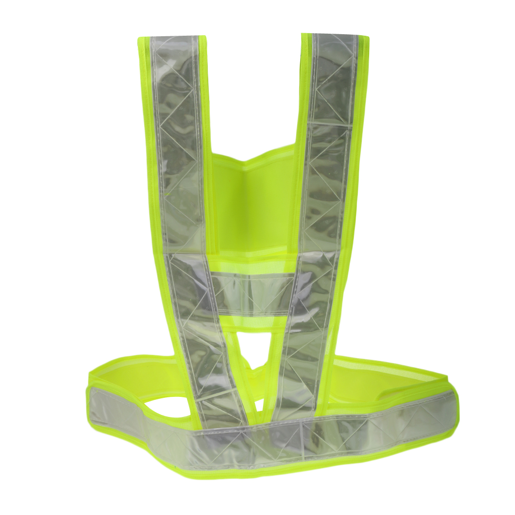 Safety Gear Reflective Vest Belt High Visibility Day And Night for All Outdoor Activities