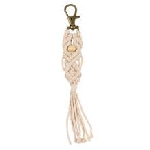 Artilady hawaii tassel chaveiros para mulheres boho chave titular chaveiro macrame saco charme jóias presente para amigos transporte da gota(China)