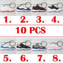 Atacado 10 PCS bonito mini Silicone vigor sapato sapatilhas sapatos chaveiro backpack pingente chaveiro presente criativo chaveiro(China)