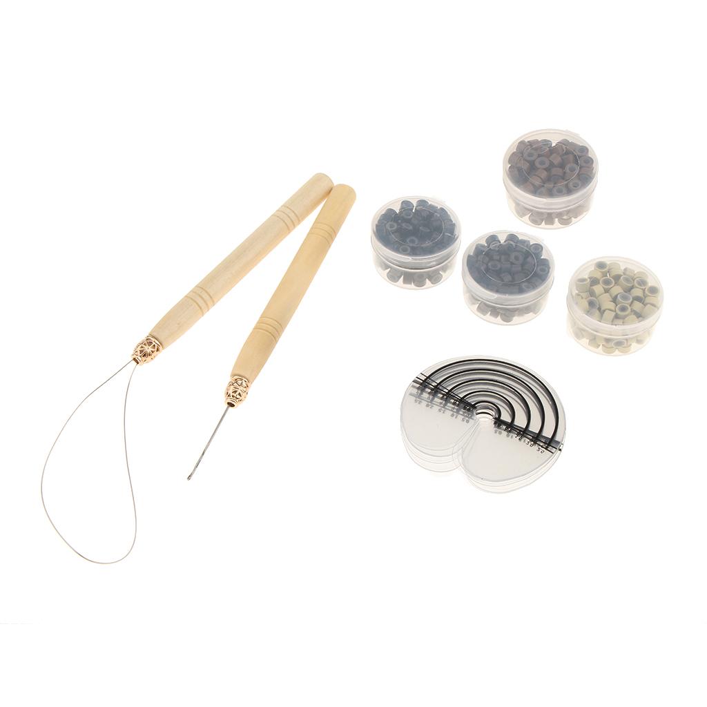 Hair Extension Tools Silicone Micro Beads Loop Hook Heat Shield Protectors Hair Extension Hook Loop Hair Extension Set