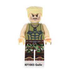 Única venda super heróis blocos de construção ryu dhalsim zangief honda terminator deadpool tijolos brinquedos para crianças kf8008(China)