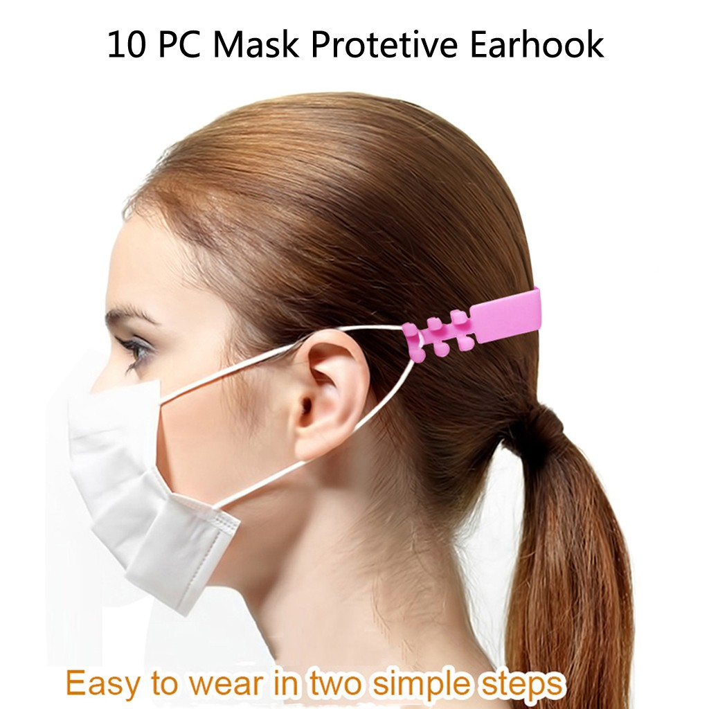 Ear Saver with Adjustable and Flexible Strap Ear Protector for Mask 10PCS in Multi-Colors