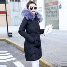 Большой Мех 2019 новая белая модная зимняя женская куртка плюс размер 7XL пуховая парка женское теплое зимнее пальто с капюшоном женская верхн...(China)