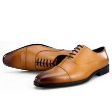 Кожаные мужские модельные туфли наивысшего качества из натуральной кожи; Цвет черный, коричневый; Официальная Мужская обувь в деловом стил...(China)