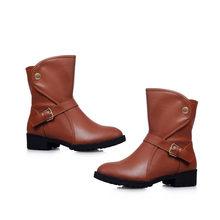 MEMUNIA 2020 nuove donne di arrivo stivaletti stivali slip on punta rotonda autunno inverno stivali comodi tacchi bassi pattini casuali delle signore(China)