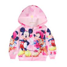 От 3 до 10 лет; рождественское пальто для маленьких девочек; Классическая куртка с принтом Микки и Минни; брендовый свитер для девочек; Одежда ...(China)