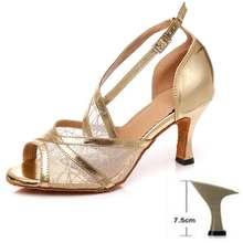 נשים לטיני ריקוד נעלי גבירותיי מקצועי ריקוד נעלי בנות ילדים סלוניים ריקוד נעלי עקבים גבוהים 6/7. 5/8. 5/9/10cm עקבים(China)