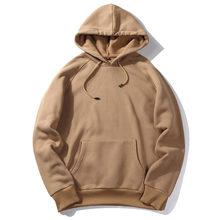 Hoodies erkekler kalın giysileri sonbahar kış uzun kollu Patchwork tişörtü erkek kadın Streetwear polar Unisex Hoody erkek giyim(China)