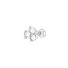 Orelha tragus conch studs piercing helix opal cristal labret plug daith aço brinco nariz piercing cartilagem jóias anéis 16g(China)