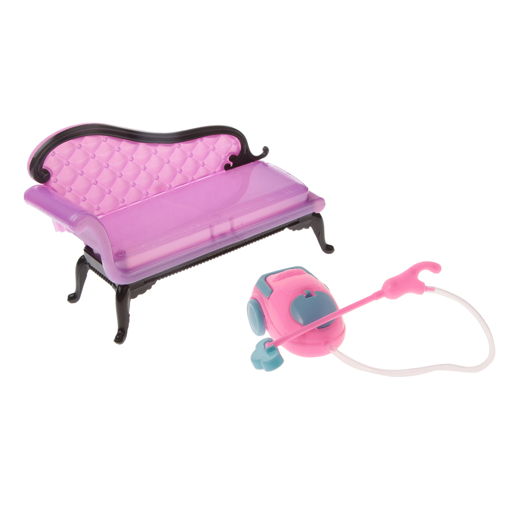 1/6 Scale Sofa Chair Cleaner Set Furniture for  Dollhouse Living Rooms Action Figures Accessories Kids Pretend Play